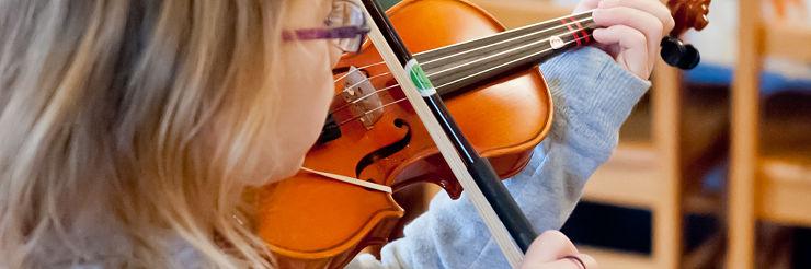 Young Suzuki Violin Student